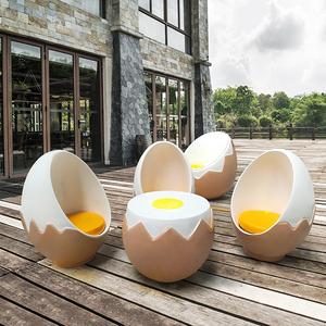 玻璃钢鸡蛋椅北欧个性创意椅eggchair美陈装饰样板房摆件椅