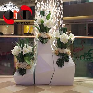 欧卡德玻璃钢厂家直销休闲商业美陈摆件花盆落地组合创意花池花箱
