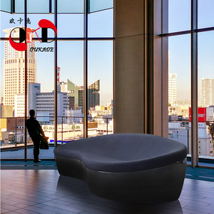 玻璃钢办公沙发茶几组合现代简约小户型接待室商务三人休闲椅