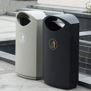 公园室内分类垃圾桶