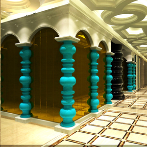 广东玻璃钢厂家 定制外墙装饰柱子 FRP柱子造型