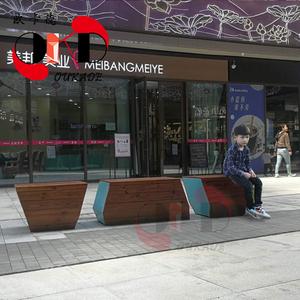 玻璃钢防腐木坐凳