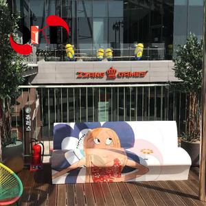 FRP玻璃钢彩绘休闲椅