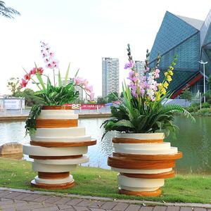 北欧风格休闲花盆定制异形创意花盆花槽